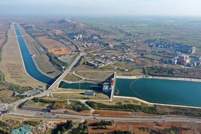 俯瞰南水北調中線工程渠首:一渠清水潤京津