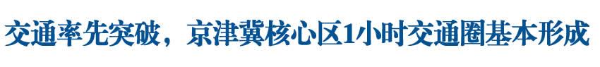 【2019·河北民生答卷①】交通率先突破,京津冀核心區1小時交通圈基本形成
