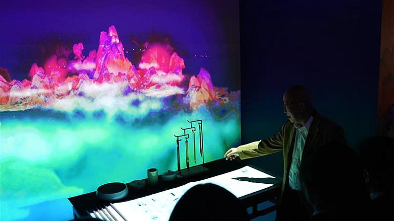 《千里江山圖》數字長卷在澳門展出