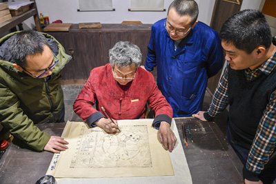 Wu Qiang's Woodcut New Year Pictures