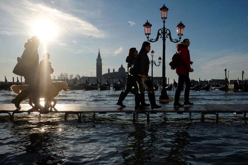 Venice flooded