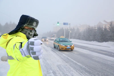 "Mohe: ""Northern Traffic Police"" in extreme cold"