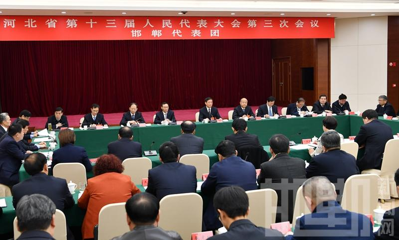 """省""""两会""""的代表委员审议讨论政府工作报告"""