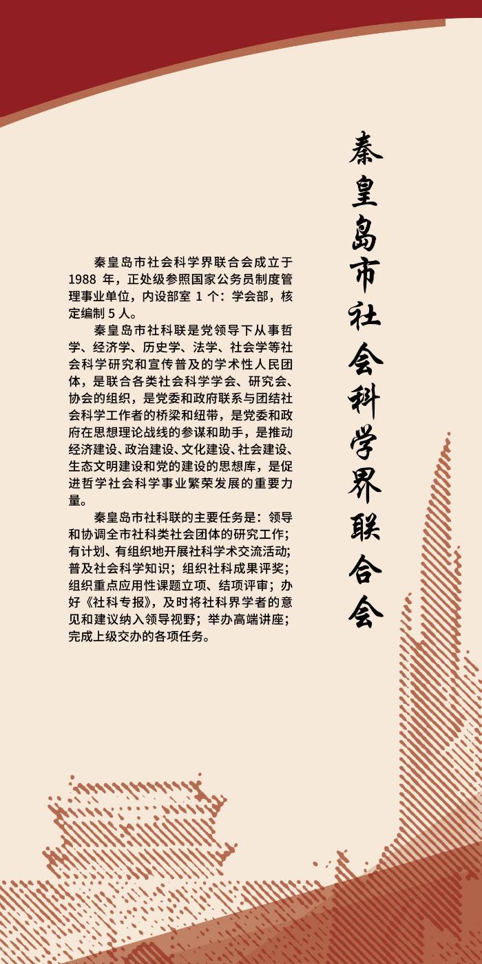 秦皇岛市社科联展板