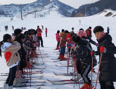 6万5千张滑雪票 让平山中小学生体验冰雪乐趣