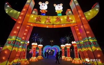 万全区2020年新春花灯会展正式开幕
