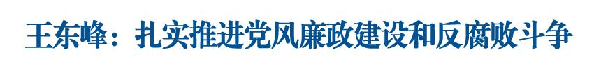 """王东峰出席保定市2019年度落实全面从严治党""""两个责任""""和党风廉政建设责任制情况专项检查意见反馈会议"""