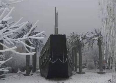 石家庄:雾凇美景迎新年