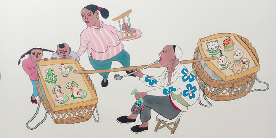 【新春走基层】高清组图:农民画里道丰年 留住记忆里的乡愁
