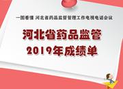 河北省药品监管2019年成绩单