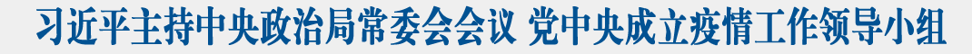习近平主持中央政治局常委会会议 研究疫情防控工作 党中央成立疫情工作领导小组