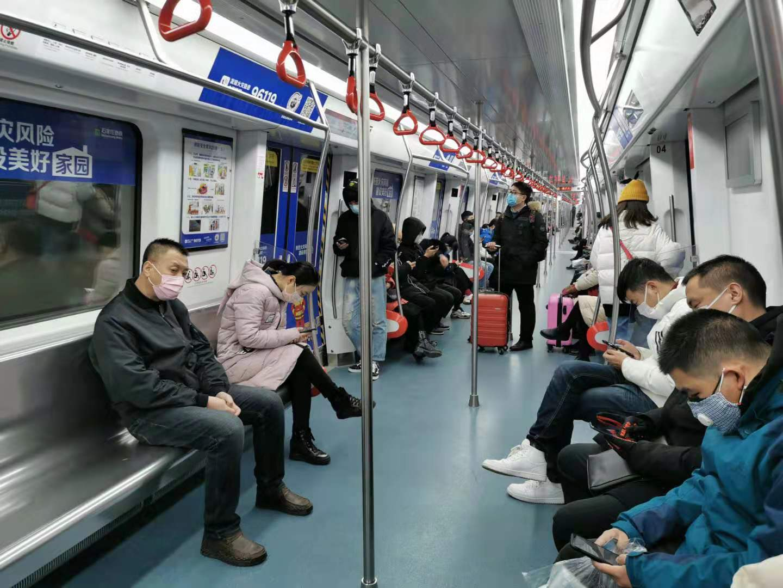 石家莊︰今(jin)起乘(cheng)坐地鐵必須全程佩戴口罩