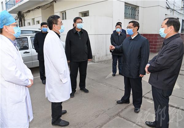张维亮到峰峰矿区检查疫情防控工作