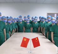 """河北:鲜红的党旗飘扬在战""""疫""""一线"""