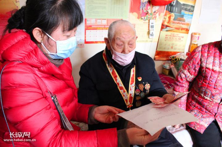 """【一线写真】饶阳县94岁老兵的抗""""疫""""行动"""