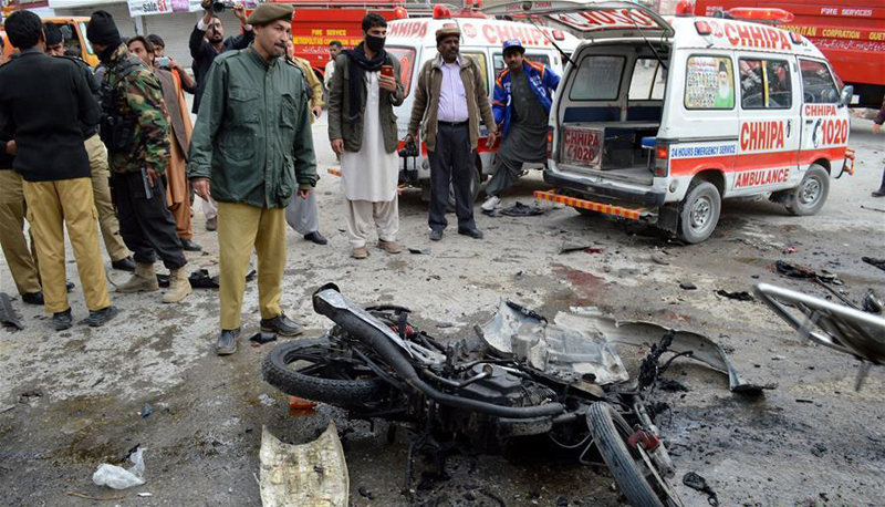 巴基斯坦奎达发生自杀式袭击