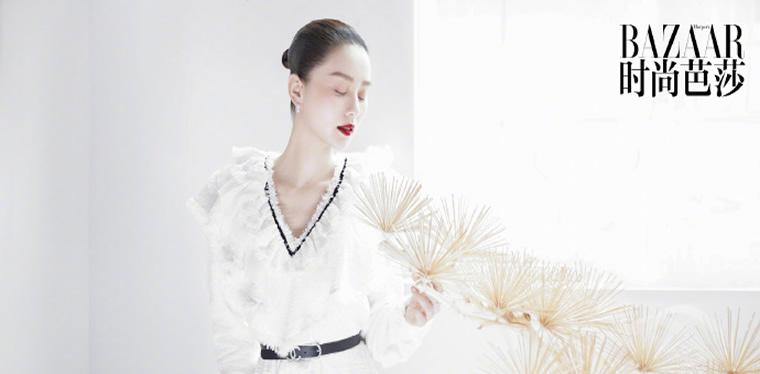 刘诗诗登时尚杂志开季刊 双封面演绎人与自然之美