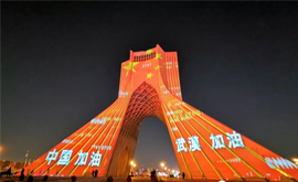 全球多地点亮地标建筑 为武汉加油