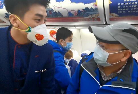 【微视频】相遇在飞往武汉的航班上