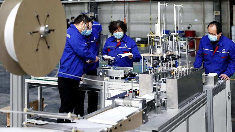河北省首台全自动口罩机研制成功