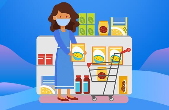 去超市商场买菜购物时如何做好防护?看这里