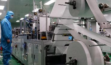 秦皇岛市首条全自动KN95口罩生产线投产