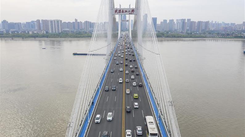 武汉长江二桥车流如织