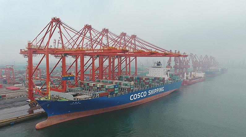 河北唐山港1至3月份外贸货物吞吐量同比增长0.38%