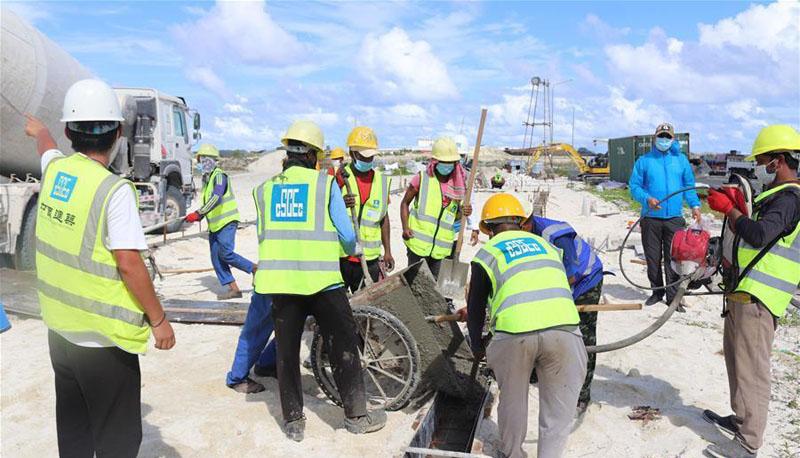 中企助力建設馬爾代夫抗疫設施