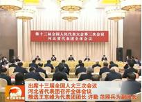 出席十三屆全國人大三次會議 河北省代表團召開全體會議 推選王東峰為代表團團長 許勤范照兵為副團長