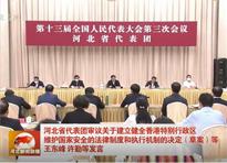 河北省代表團審議關于建立健全香港特別行政區維護國家安全的法律制度和執行機制的決定(草案)等
