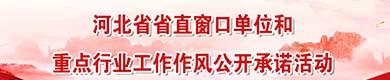 河北省省直窗口單位和重點行業工作作風公開承諾活動