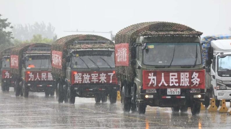 再赴抗洪一线,千名官兵驰援安徽芜湖