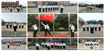 青銀高速干部職工堅守崗位升國旗 慶國慶