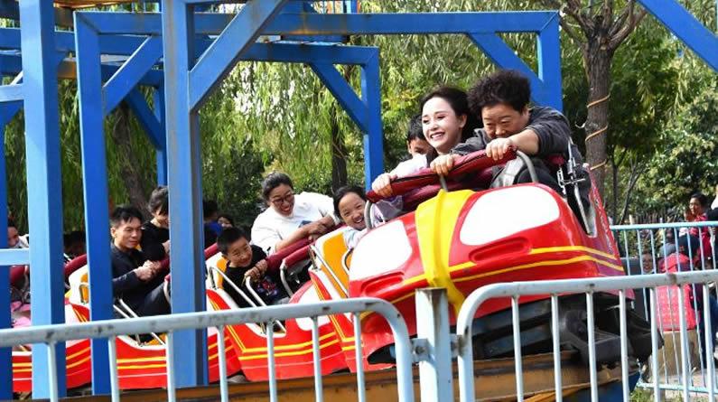 組圖丨河北永年:親近自然 樂享假期