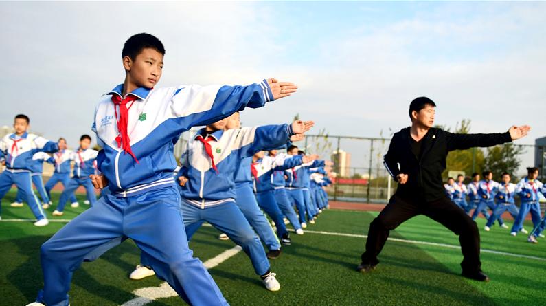 河北滄州:傳統武術教育進校園