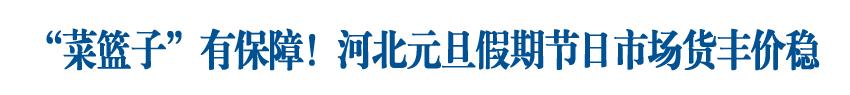 """保障""""米袋子""""""""菜籃子""""""""肉盤子"""",河北元旦假期節日市場貨豐價穩"""