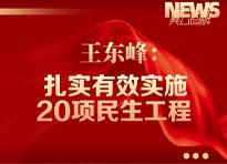 图解 | 王东峰:扎实有效实施20项民生工程