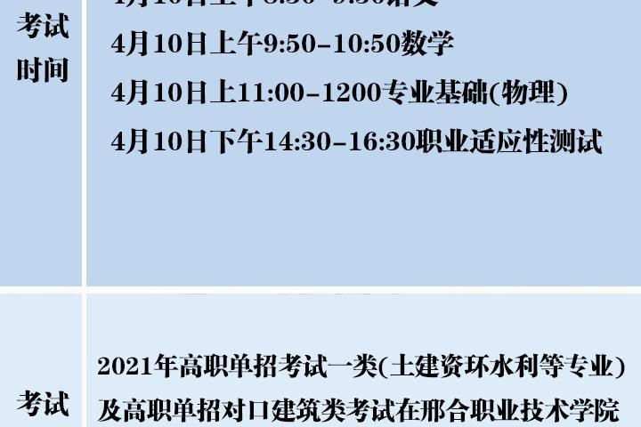 考生看過來!高職單招考試時間地點一覽表