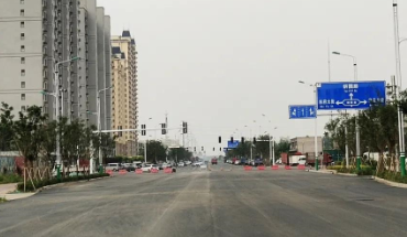 古城大街(朝陽路至興華路段)主體工程正式完工