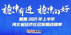 2021年上半年河北省国民经济成绩单